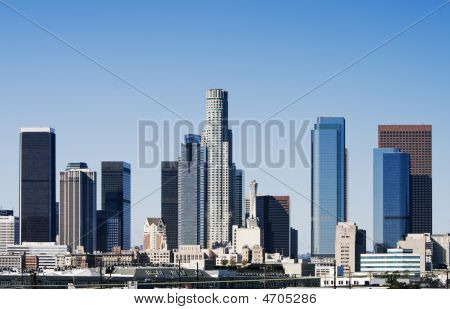 Daytime View Of Los Angeles Skyline