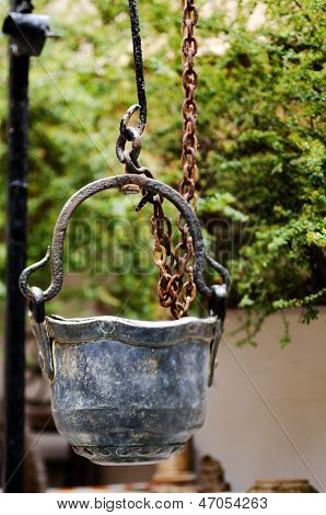 Antique Metal Bucket