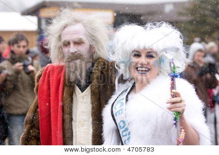 Frozen Dead Guy Look Alike And Ice Queen 2009