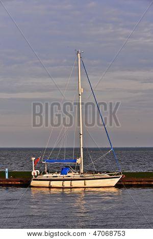 Sailboat on Zuiderzee