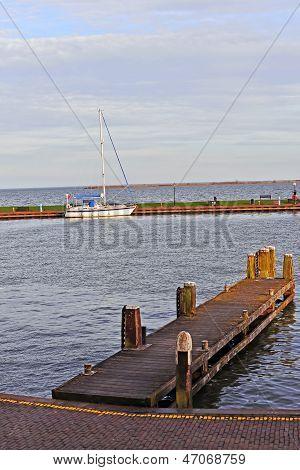 Pier off Volendam, Netherlands