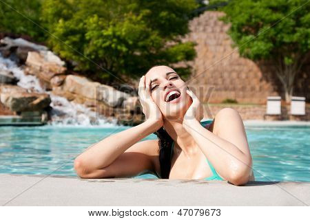 Woman Enjoying Water
