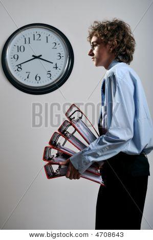 Businessman With Folders