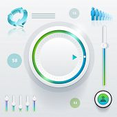 Vector ui (user interface) elements and graphics. poster