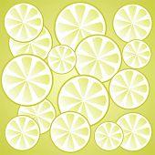 Stylized lemon slices pattern on a dark background. poster