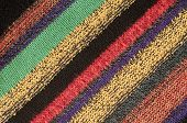 Close up detail of colored wool jumper poster