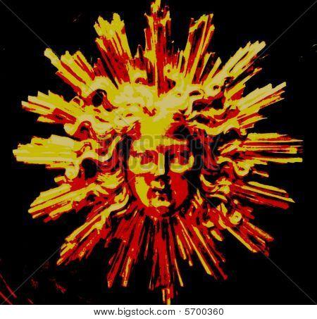 Image of the Sun God