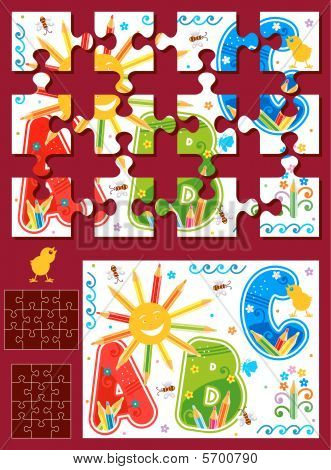 Make your own jigsaw puzzle kit - image, template, pieces