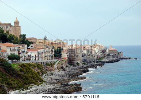 View At Coast In Cefalu