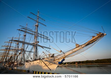 Tall Ships In Port