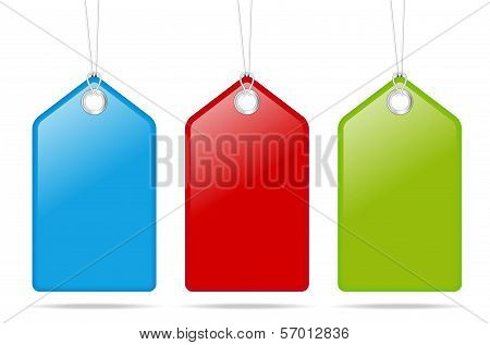 Set Of Three Empty Price Tags