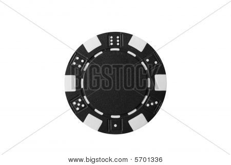 a isolated poker chip on white background poster