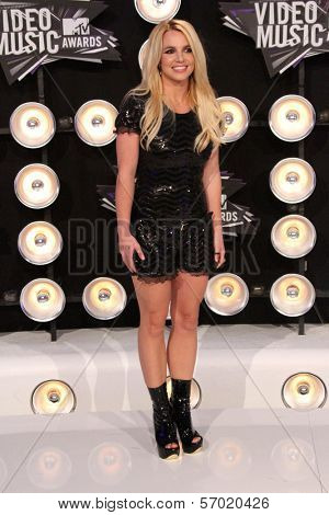 Britney Spears at the 2011 MTV Video Music Awards Arrivals, Nokia Theatre LA Live, Los Angeles, CA 08-28-11
