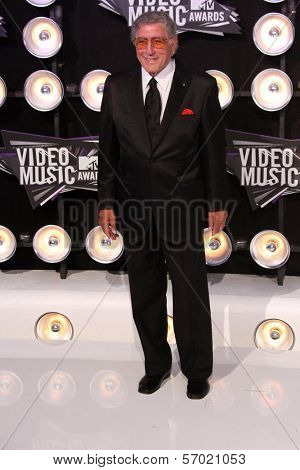Tony Bennett at the 2011 MTV Video Music Awards Arrivals, Nokia Theatre LA Live, Los Angeles, CA 08-28-11