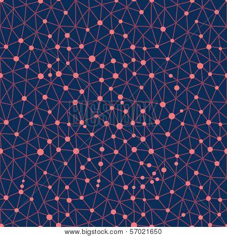 Seamless pattern crystal lattice