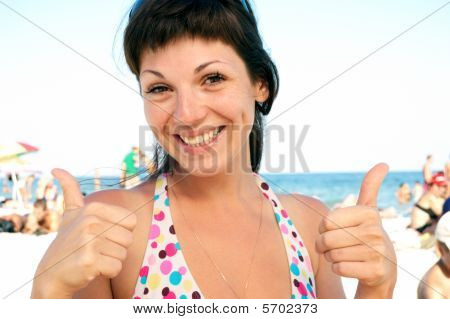Portrait Of A Woman On The Beach
