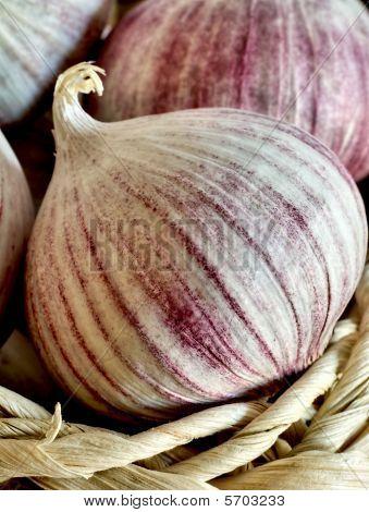 Chinese Single Clove Garlic In A Basket