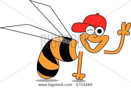 Bee Peace Sign