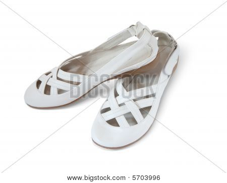White Woman Shoes, Isolated