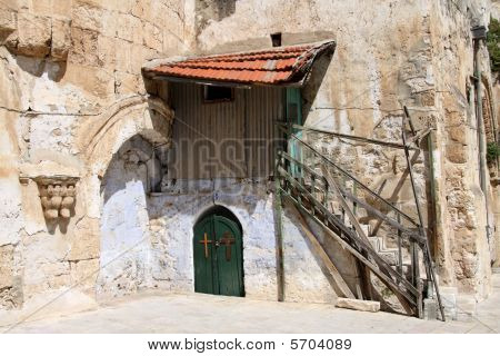 Ancient House - on the Temple Mount (Haram Esh-Sharif) in Jerusalem.Israel poster