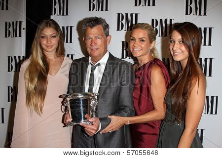 David Foster and Family at the BMI Pop Music Awards, Beverly Wilshire Four Seasons Hotel, Beverly Hills, CA. 05-17-11