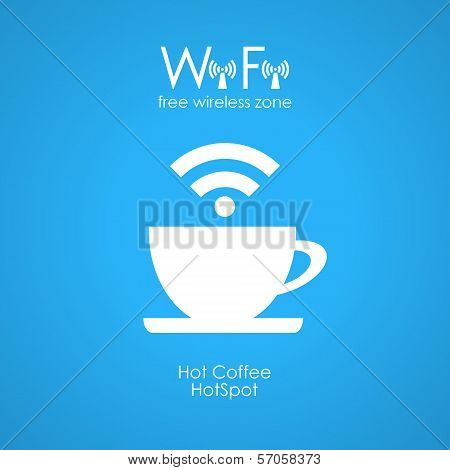Free wifi cafe poster