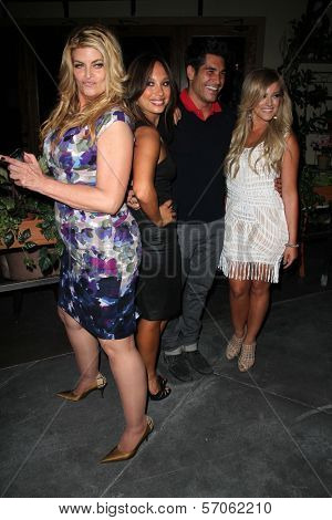 Kirstie Alley, Cheryl Burke, Mike Catherwood and Lacey Schwimmer at Cheryl Burke's Birthday Celebration, BoHo, Hollywood, CA. 05-02-11