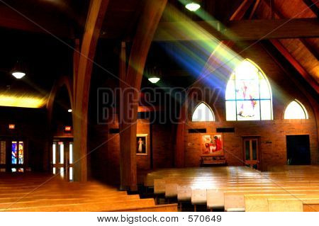 Church With Light Streaming In