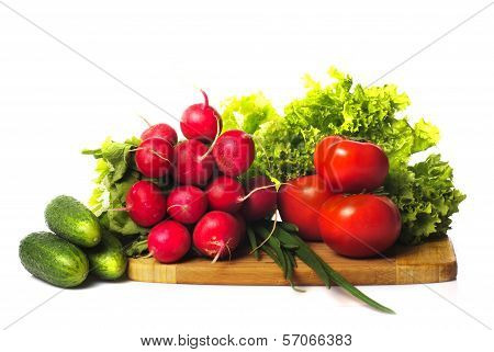 Vegetables In Kitchen Isolated