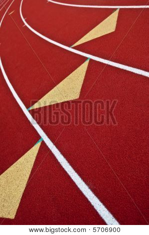 Running Track With Triangle