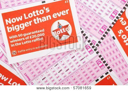 Lotto Play Slips