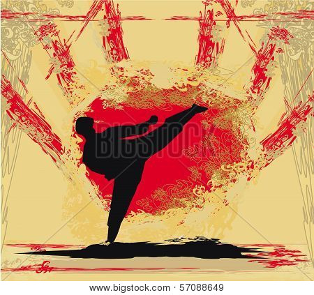 Karate Grunge Poster