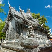 Wat Sri Suphan, the famous Silver Temple in Chiang Mai, Thailand poster