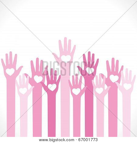 heart symbol in hand background vector