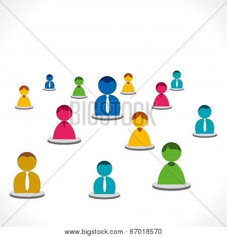 people network with colorful people stock vector