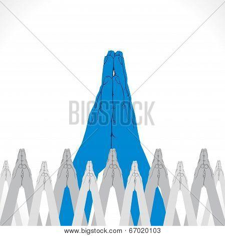 namaskar hand pose background vector