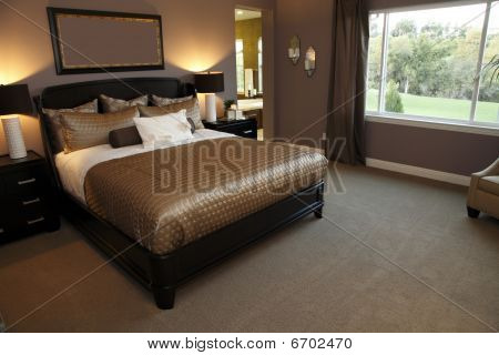 Spacious designer bedroom