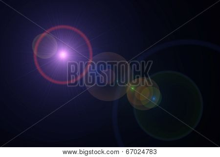Warm Digital Lens Flare
