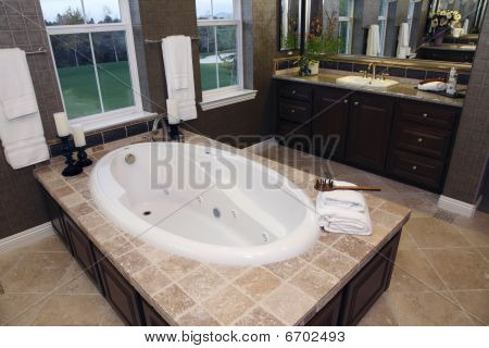 Bathroom and golf course