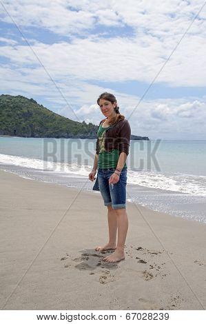 At beach
