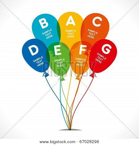 colorful balloon creative info-graphics concept vector