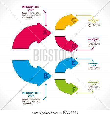 creative arrow info-graphics design concept stock vector