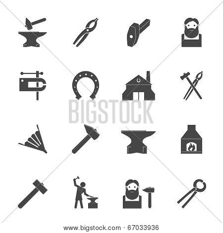 Blacksmith Icons Set