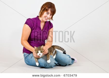 Cat And Women