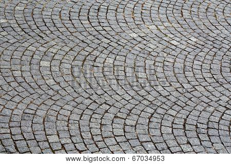 Cobbled Road As Background