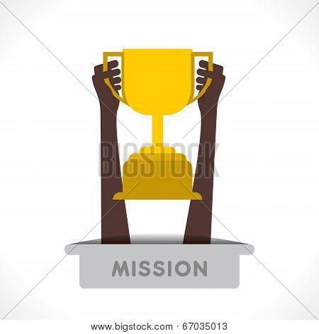 winning celebration or success concept vector