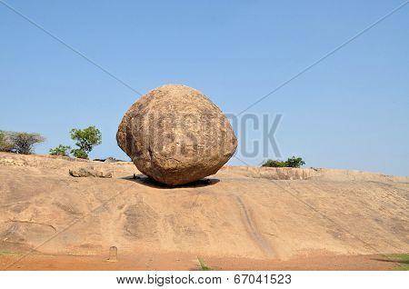 Krishna's butterball, balancing giant natural rock