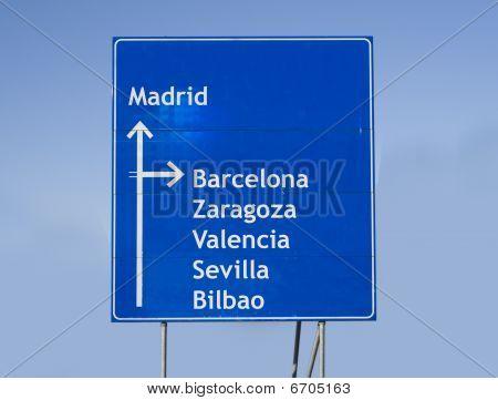 Road Sign Spain