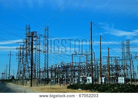 Substation, Electric, Power, High, Voltage