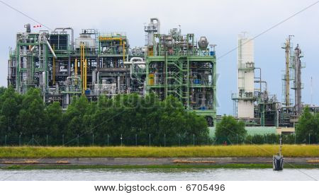Chemical Plant in the port of Antwerp, Belgium. poster